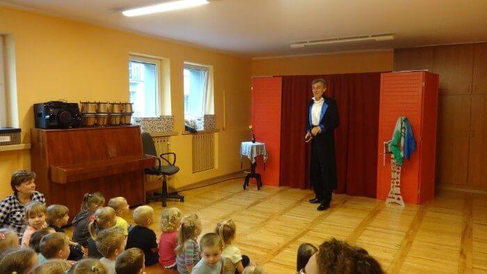 magik przed publicznością